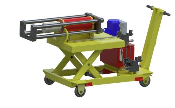 Установка для демонтажа внутренних подшипниковых колец шейки оси колесной пары (УДВКП-1)