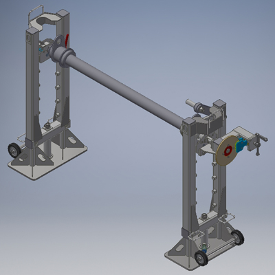 Оборудование для перемотки и размерной резки стальных канатов (строп)