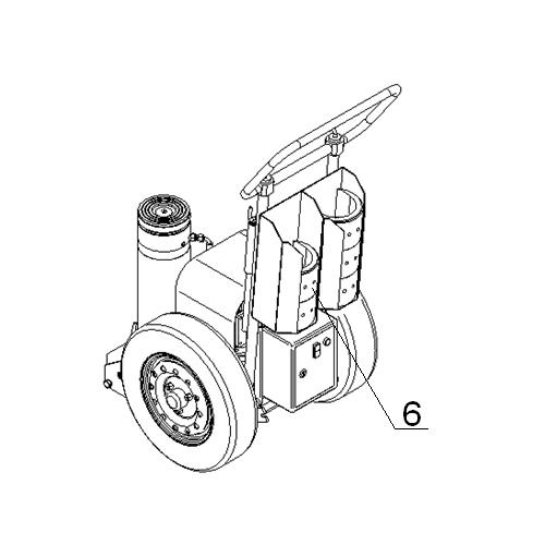 Домкрат подкатной (ДГП-100Э)