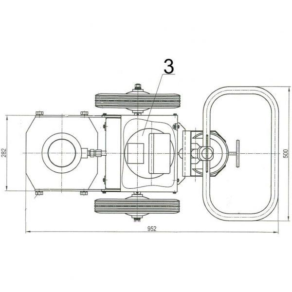 Домкрат подкатной (ДМА-60Э)