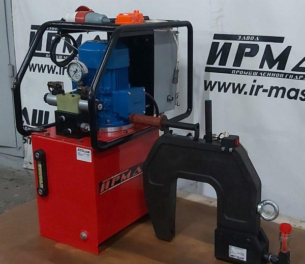 Клепатор (гидроскоба) для рам ГАЗели и других легких грузовиков в комплекте с маслостанцией с электрическим приводом