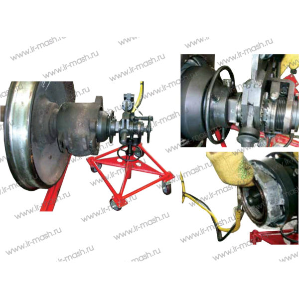 Установка для демонтажа буксовой гайки М110 колесных пар вагонов