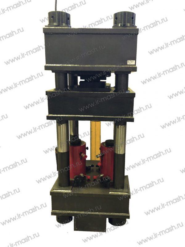 Пресс для затяжки закрытого каната в кольцевой конусной втулке проходческого прицепного устройства