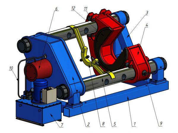 Пресс гидравлический горизонтальный ППК400Г