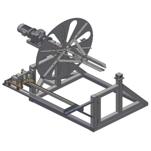 Устройство для намотки стального каната на барабан или в бухты (на технологический барабан)