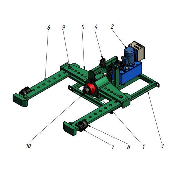 Гидравлический съемник (СГТ2100НП1100)