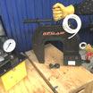 Клепатор (гидроскоба) для рам газели и других легких грузовиков в комплекте с маслостанцией с электрическим приводом (НЭЭ)