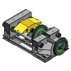 Стенд распрессовки колес с осей колесных пар (СКР-400)