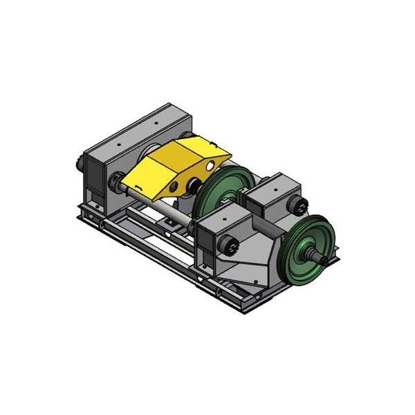 Стенд распрессовки колес с осей колесных пар СКР-400
