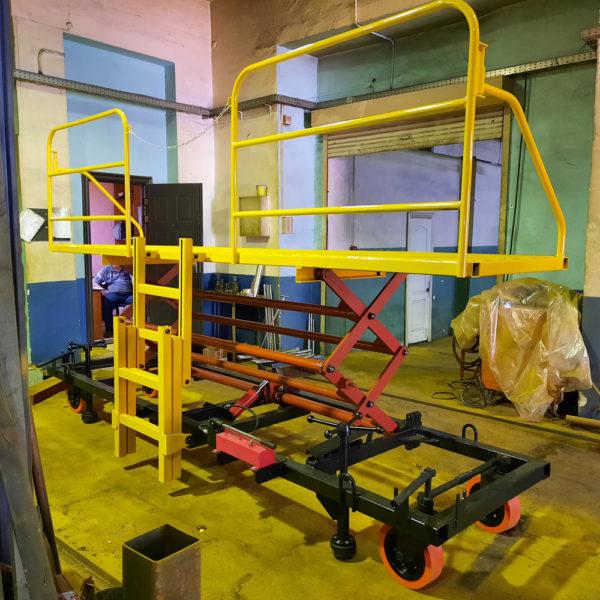 Стапель для сборочных работ на кузове вагона (ССР-0,2-2,1-4,2)
