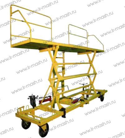 Стапель для сборочных работ на кузове вагона