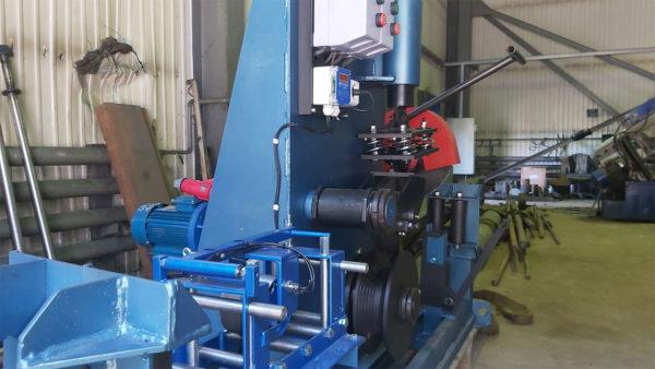 Установка для перемотки и мерной резки стальных канатов (УРК-60)