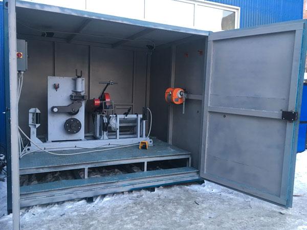 Установка для утилизации стальных канатов
